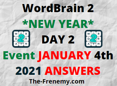 WordBrain 2 New Year Day 2 January 4 2021 Answers Puzzle