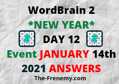 Wordbrain 2 New Year Day 12 January 14 2021 Answers