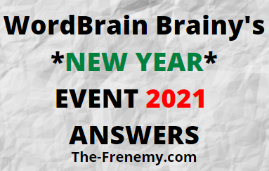 Wordbrain Brainys New Year Event 2021 Answers Puzzle