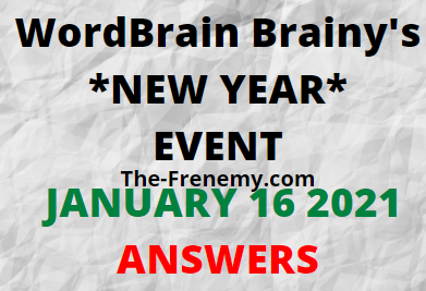 Wordbrain Brainys New Year January 16 2021 Answers