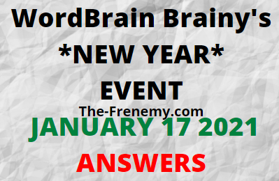 Wordbrain Brainys New Year January 17 2021 Answers