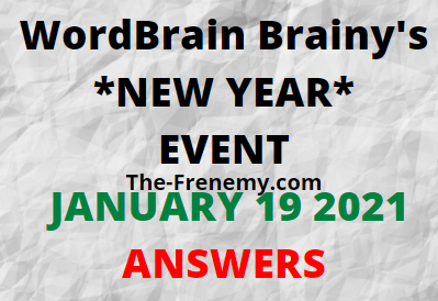 Wordbrain Brainys New Year January 19 2021 Answers