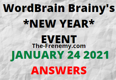 Wordbrain Brainys New Year January 24 2021 Answers