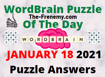 Wordbrain Puzzle of the Day January 18 2021 Answers