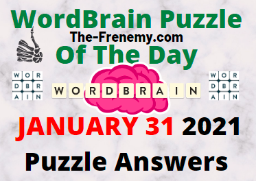 Wordbrain Puzzle of the Day January 31 2021 Answers
