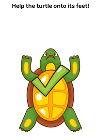 Brain Blow Help the turtle onto it's feets Answers Puzzle