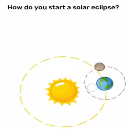Brain Blow How do you start a solar eclipse Answers Puzzle