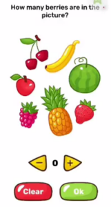 Brain Blow How many berries are in the picture Answers Puzzle