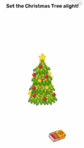 Brain Blow Set the christmas tree alight Answers Puzzle