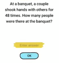 Brain Boom At a banquet Answers Puzzle