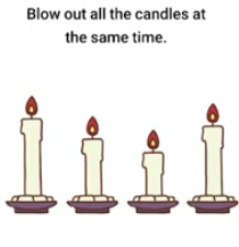 Brain Boom Blow out all the candles Answers Puzzle