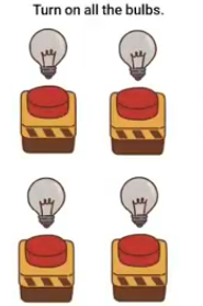 Brain Boom Turn on all the bulbs Answers Puzzle