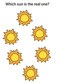 Brain Boom Which sun is the real one Answers Puzzle
