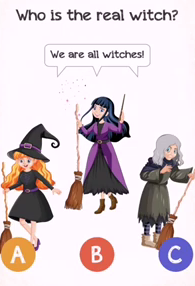 Braindom 2 Level 241 Who is the real witch Answers Puzzle