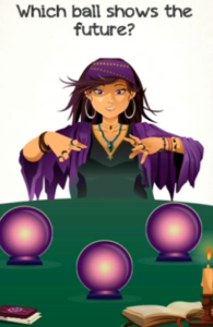 Braindom 2 Level 299 Which ball shows the future Answers Puzzle