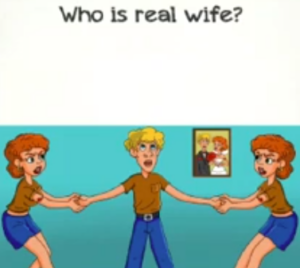 Braindom 2 Level 332 Who is the real wife Answers puzzle