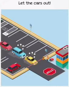 Braindom Level 128 Let the cars out Answers Puzzle