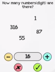 Braindom Level 296 How many numbers digit are there Answers Puzzle