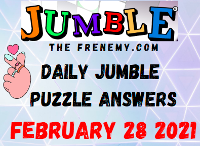 Jumble February 28 2021 Answers Today