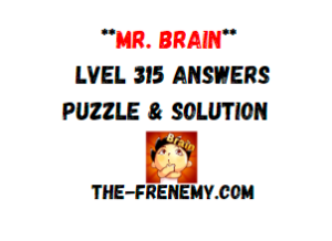 Mr Brain Level 315 Answers Puzzle