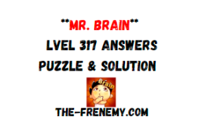 Mr Brain Level 317 Answers Puzzle
