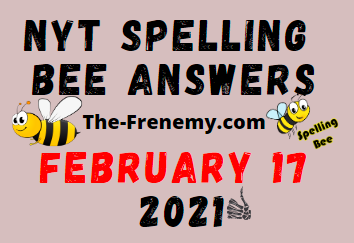 Nyt Spelling Bee February 17 2021 Answers