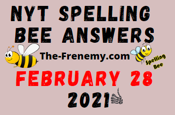 Nyt Spelling Bee February 28 2021 Answers