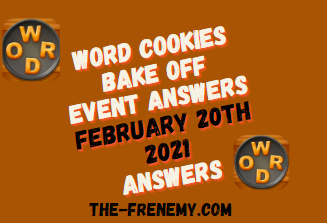 Word Cookies Bake Off February 20 2021 Answers