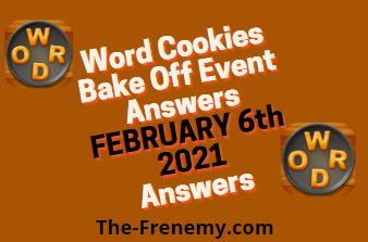 Word Cookies Bake Off February 6 2021 Answers