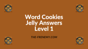 Word Cookies Jelly Level 1 Answers