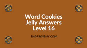 Word Cookies Jelly Level 16 Answers