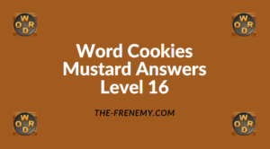 Word Cookies Mustard Level 16 Answers