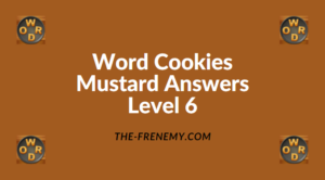 Word Cookies Mustard Level 6 Answers