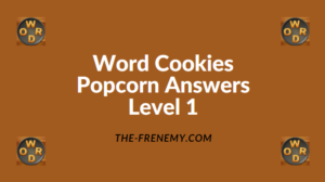 Word Cookies Popcorn Level 1 Answers