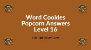 Word Cookies Popcorn Level 16 Answers