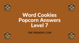 Word Cookies Popcorn Level 7 Answers