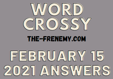 Word Crossy February 15 2021 Answers