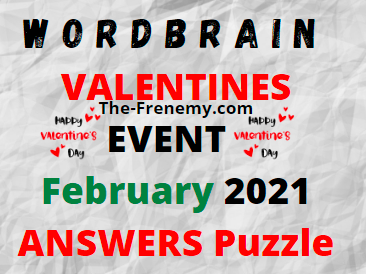 WordBrain Valentines Event February 2021 Answers