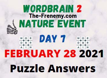 Wordbrain 2 Nature Event Day 7 February 28 2021 Answers