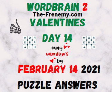 Wordbrain 2 Valentines day 14 February 14 2021 Answers