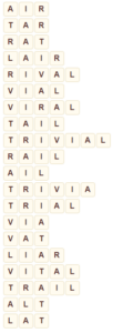 Wordscapes Thick 5 level 9045 answers