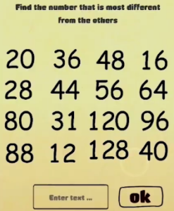 Brain Crazy Find the number Answers Puzzle
