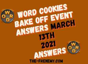 Word Cookies Bake Off March 13 2021 Answers