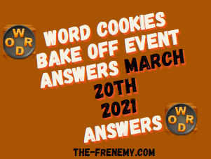 Word Cookies Bake Off March 20 2021 Answers