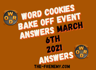 Word Cookies Bake Off March 6 2021 Answers