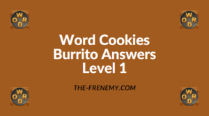 Word Cookies Burrito Level 1 Answers