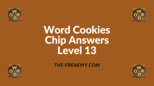 Word Cookies Chip Level 13 Answers