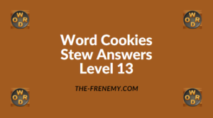 Word Cookies Stew Level 13 Answers
