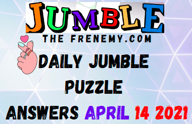 Jumble April 14 2021 Answers Puzzle Today