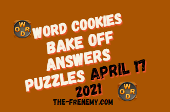 Word Cookies Bake Off April 17 2021 Answers